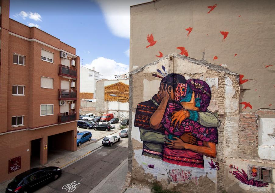 Mural de Saner en Zaragoza