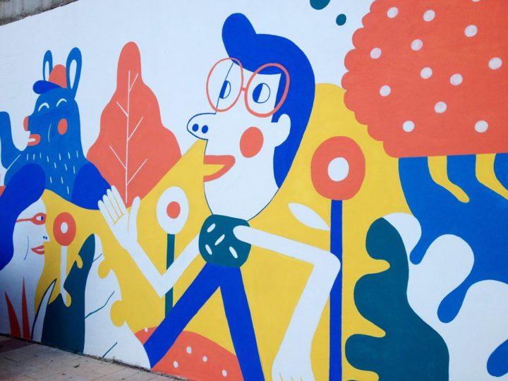 Mural colaborativo en Rosales del Canal